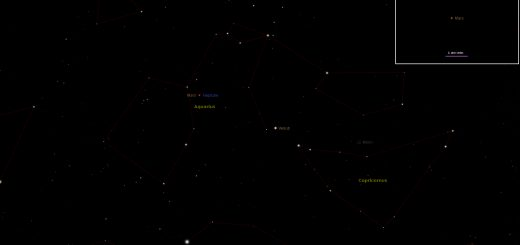 Mars and Neptune very close conjunction: 01 Jan. 2017