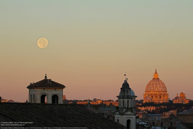 The Sun has just kissed the S. Peter's dome and the Moon is there- 15 Nov. 2016 - 15 Nov. 2016