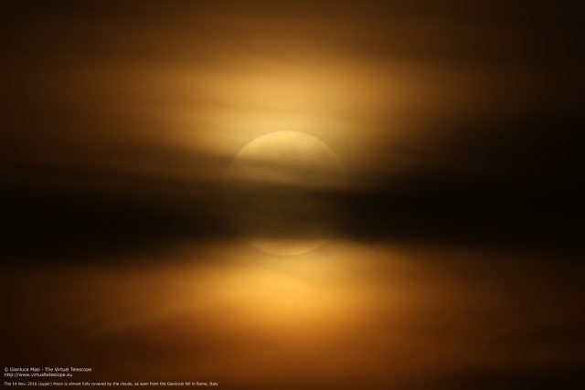 Clouds eclipse the Supermoon