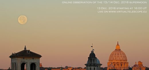 """""""Supermoon for the Virtual Telescope"""" - poster of the event"""