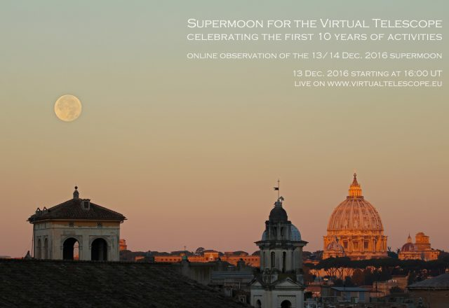 """Supermoon for the Virtual Telescope"" - poster of the event"