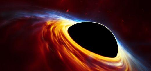 Questa rappresentazione artistica mostra un buco nero supermassiccio in rapida rotazione, circondato da un disco d'accrescimento. Questo disco sottile di materia in rotazione intorno al buco nero rappresenta ciò che rimane di una stella simile al Sole ridotta in brandelli dalle forze mareali del buco nero. Le onde d'urto nei detriti prodotti dalla collisione e il calore generato dall'accrescimento producono un lampo di luce che ricorda l'esplosione di una supernova. Crediti: ESO, ESA/Hubble, M. Kornmesser