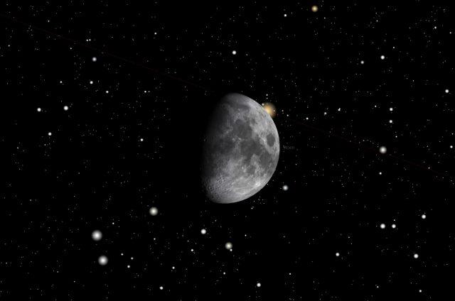 Rome, 06 Feb. 2017, 00:09 PM (UT+1): Aldebaran occultation ends.