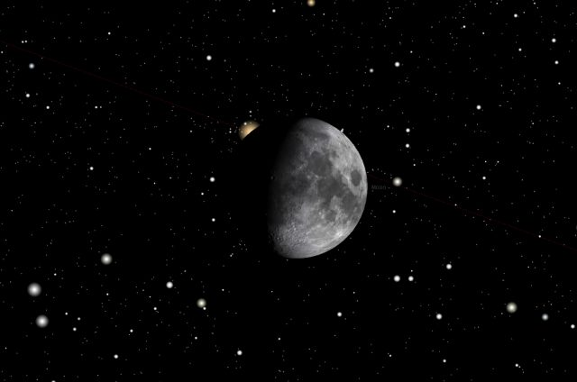 Rome, 05 Feb. 2017, 11:21 PM (UT+1): Aldebaran occultation starts.