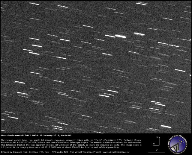 Near-Earth Asteroid 2017 BH30: 29 Jan. 2017