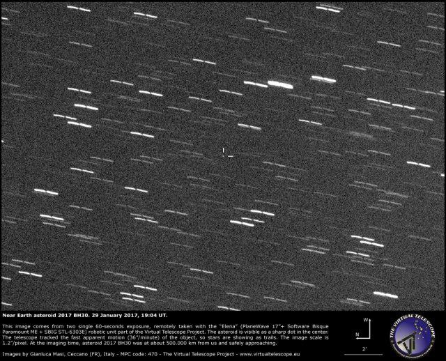 Near-Earth Asteroid 2017 BH30: 29 Jan. 2017