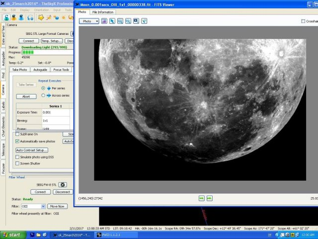 10 Feb. 2017 Penumbral Lunar Eclipse: an image from the live feed
