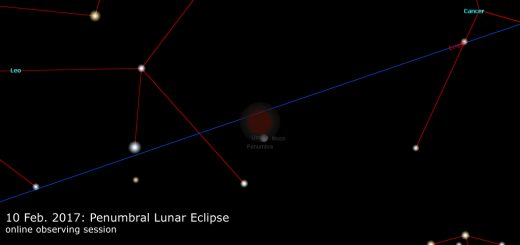 17 Feb. 2017: Penumbral Lunar Eclipse - online observation