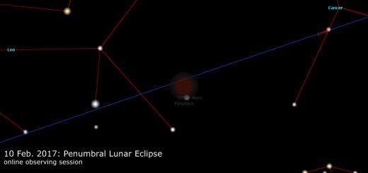 17 Feb. 2017: Penumbral Lunar Eclipse - online observation