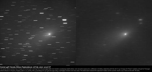 Comet 45P/Honda-Mrkos-Pajdusakova: 16 Feb. 2017