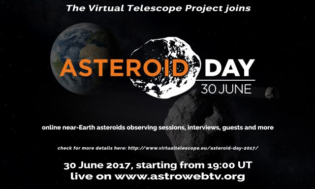 Asteroid Day 2017 at Virtual Telescope Project