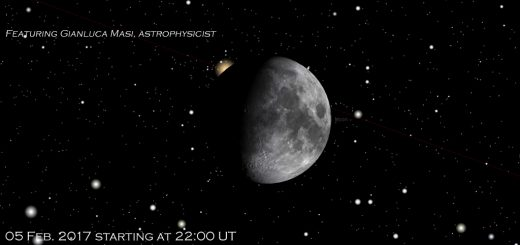 05 Feb. 2017, the Moon meets Aldebaran: online session