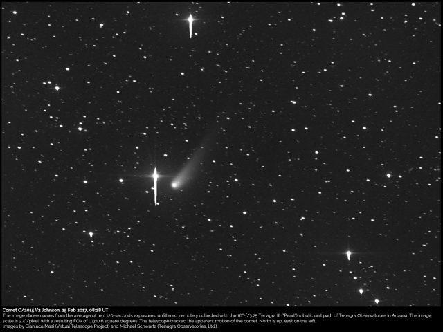 Comet C/2015 V2 Johnson: 25 Feb. 2017
