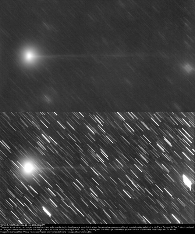 Comet C/2017 E4 Lovejoy: 29 Mar. 2017
