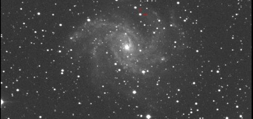 NGC 6946 and supernova SN 2017eaw. 14 May 2017