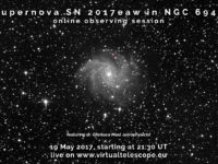 Supernova SN 2017eaw in NGC 6946: online observing session - 19 May 2017
