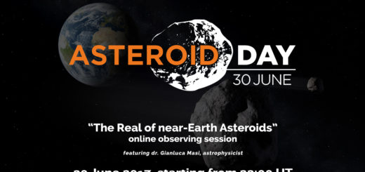 """""""The Realm of Near-Earth Asteroids"""": an official live event for Asteroid Day 2017 – poster"""