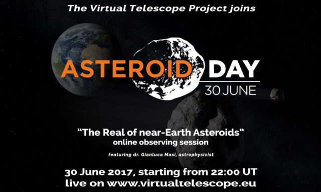"""The Realm of Near-Earth Asteroids"": an official live event for Asteroid Day 2017 – poster"