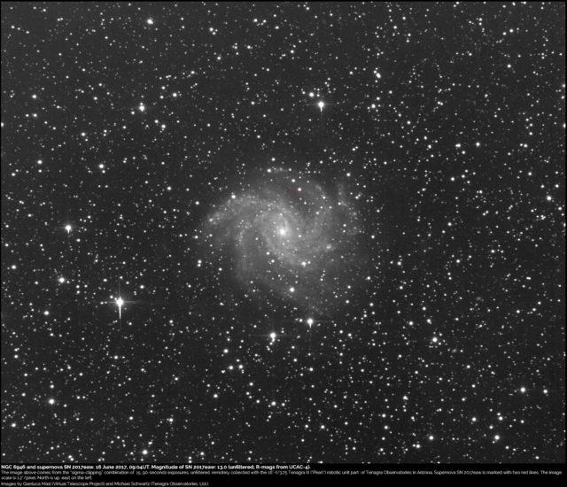 Supernova SN 2017eaw and NGC 6946: 16 June 2017