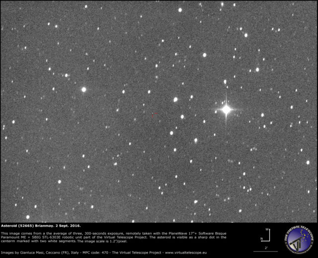 Asteroid (52665) Brianmay, named after Brian May, Queen's guitarist, astrophysicist and co-founder of Asteroid Day