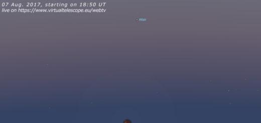 07 Aug. 2017 Partial Lunar Eclipse: online observation