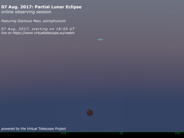 07 Aug. 2017 Partial Lunar Eclipse: online observation