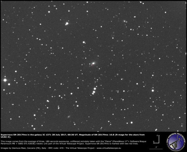 Supernova SN 2017fms in the galaxy IC 1371: 28 July 2017