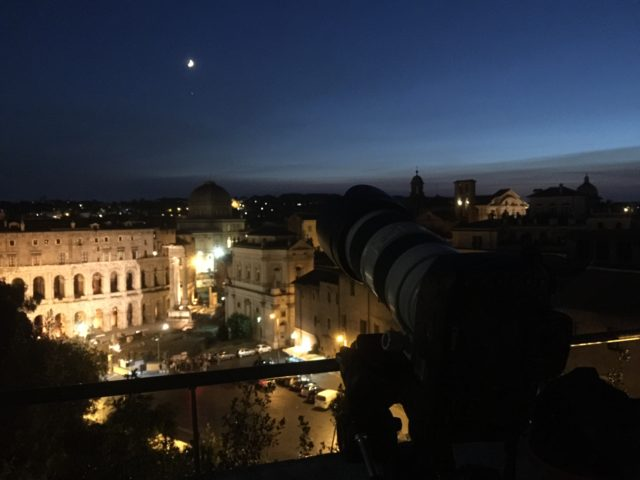 Imaging the Moon and Jupiter above Rome - 25 Aug. 2017