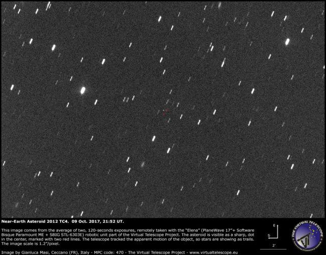 Near-Earth Asteroid 2012 TC4: 09 Oct. 2017