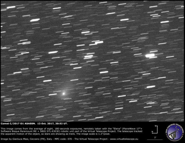 Comet C/2017 O1 ASASSN: 13 Oct. 2017