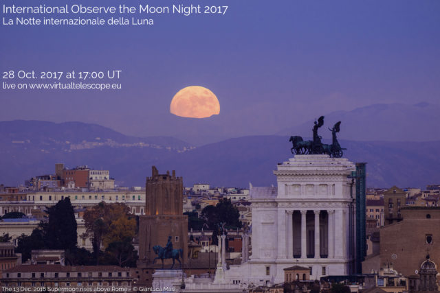 International Observe the Moon Night 2017: online observation - 28 Oct. 2017