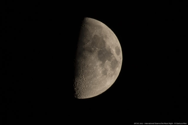 The Moon made everyone happy to look up, on the International Observe the Moon Night 2017