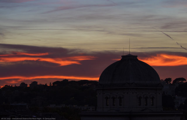 The Great Synagogue of Rome at sunset