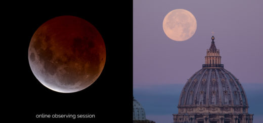 """Super Blue Moon Total Eclipse"" and ""Super BlueMoon 2018"": poster of the events"