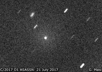 Comet C/2017 O1 ASASSN, confirmation image: 21 July 2017