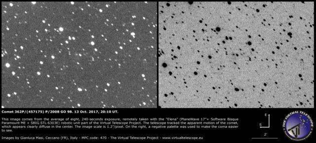 Comet 362P/(457175) P/2008 GO 98: 13 Oct. 2017