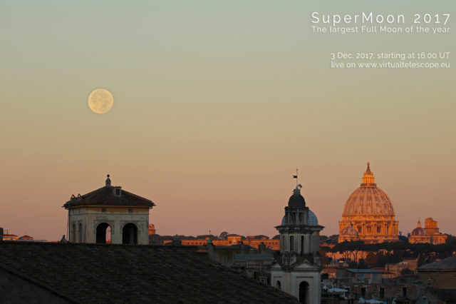 """""""SuperMoon 2017"""": poster of the event"""