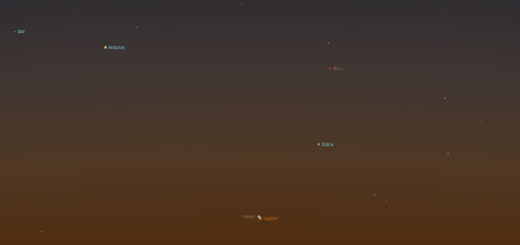 2017 Venus-Jupiter Conjunction. Simulation for Rome, 13 Nov. 2017, 06:15 local time
