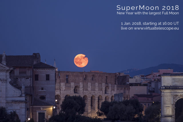 """SuperMoon 2018"": poster of the event"