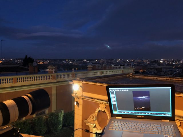 The setup ready to image the Supermoon