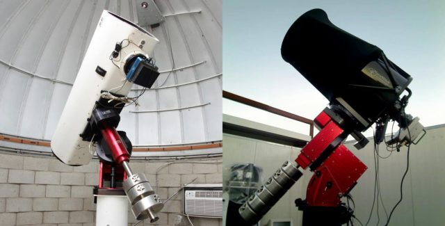 The telescopes we will use to show you online potentially hazardous asteroid (276033) 2002 AJ129