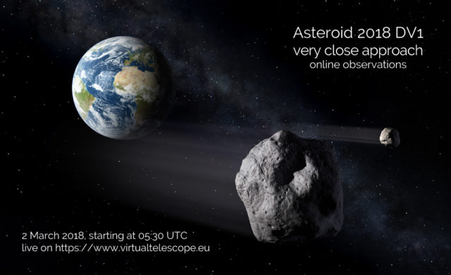 Near-Earth asteroid 2018 DV1: poster of the event
