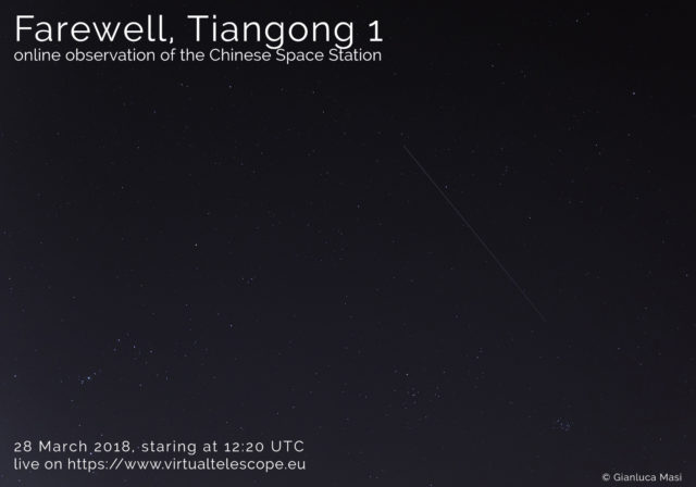 """Farewell, Tiangong 1"": poster of the event"