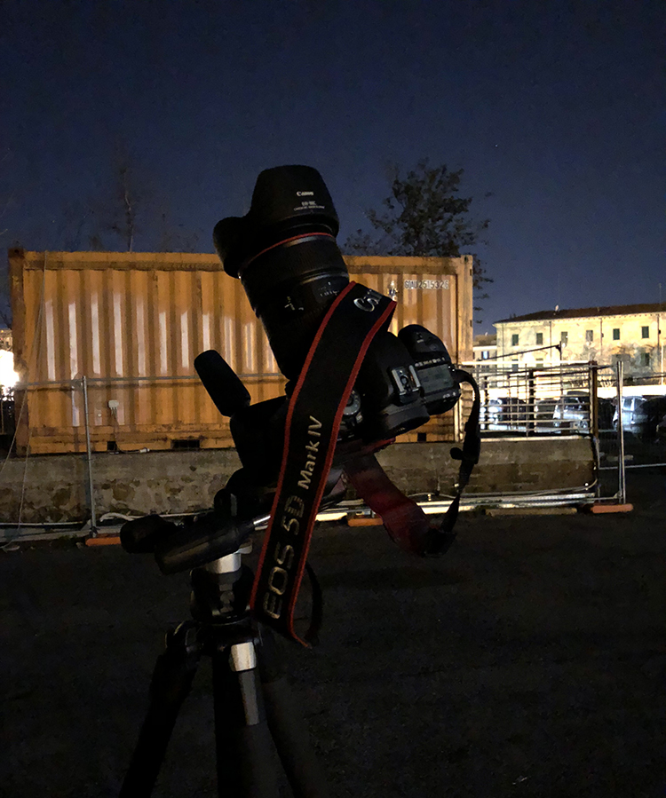 The setup used to capture the Tiangong-1 space station on 9 Mar. 2018