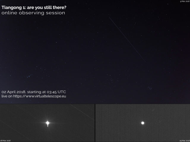 """""""Tiangong 1: Are You Still There?"""": poster of the event"""