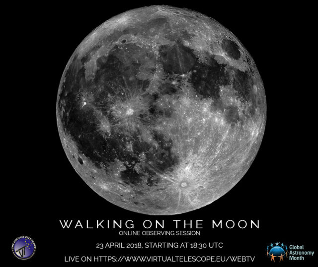 """""Walking on the Moon"": 23 Apr. 2018, 18:30 UTC."