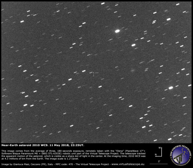 Near-Earth Asteroid 2010 WC9: 11 May 2018