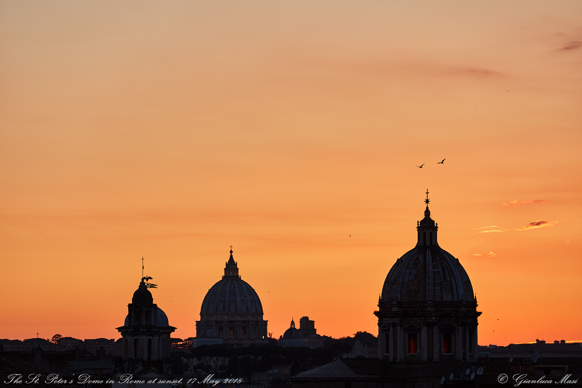 St. Peter's Dome at sunset. 17 May 2018.