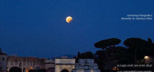 """Workshop: """"Fotografare l'eclissi totale di Luna del 27 luglio 2018"""""""