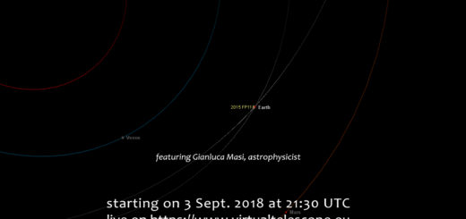 Potentially Hazardous Asteroid 2015 FP118 close encounter: online event - 3 Sept. 2018